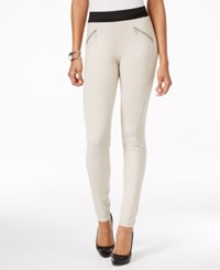 Inc International Concepts Pull On Zipper Detail Skinny Pants Only At Macy's