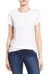 Women's Halogen Short Sleeve Crewneck Tee White