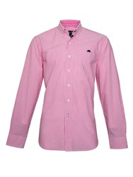 Raging Bull Candy Stripe Long Sleeve Button Down Shirt Pink