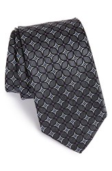 Men's J.Z. Richards Geometric Grid Silk Tie