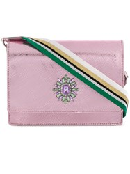 Gum Gem Embellished Crossbody Bag Pink And Purple