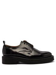 Ami Exaggerated Sole Leather Derby Shoes Black