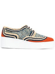 Robert Clergerie Lace Up Sneakers Multicolour