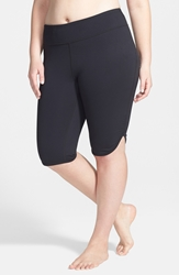 Zella 'Live In' Knee Shorts Plus Size Black