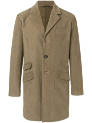 Aspesi Single Breasted Coat Cotton Polyamide Polyester L Green