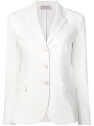 Alberto Biani Slim Fit Blazer White