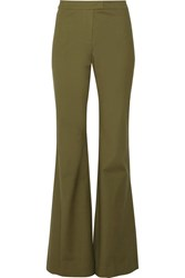 10 Crosby By Derek Lam Cotton Blend Wide Leg Pants Green