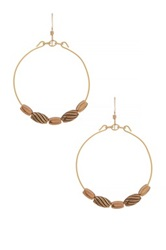 Alex And Ani Artisan Beaded Wire Hoop Drop Earrings No Color