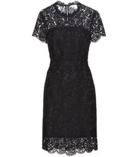 Diane Von Furstenberg Alma Lace Dress Black