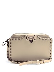 Valentino Rockstud Leather Cross Body Bag Cream