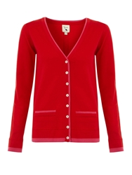 Yumi Preppy Cardigan Red