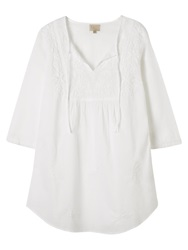 East Chikkan Tunic Top White