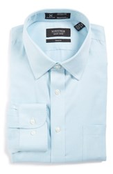 Nordstrom Men's Big And Tall Men's Shop Smartcare Tm Trim Fit Stripe Dress Shirt Blue Cool