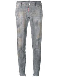 Dsquared2 Skinny Studded Jeans Grey