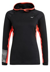 Mizuno Phenix Sweatshirt Black Fiery Coral