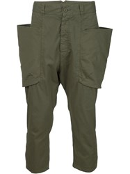 Alexandre Plokhov Drop Crotch Pants Green