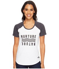 The North Face Short Sleeve Nurture Baseball Tee Tnf White Tnf Black Heather Women's T Shirt