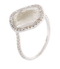 Susan Foster Diamond Slice White Gold Ring