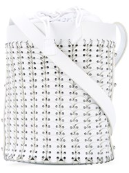 Paco Rabanne Chain Link Shoulder Bag Women Leather Metal Other One Size White