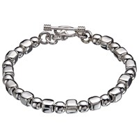 Andea Sterling Silver Ball And Cube Bracelet Silver