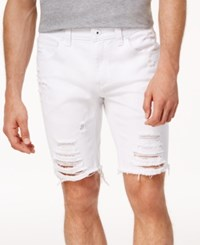 Inc International Concepts Men's Ripped 9 Shorts Created For Macy's White Wash