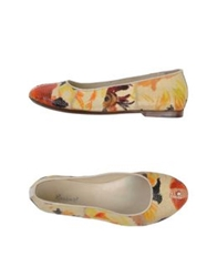 Rocco P. Ballet Flats Light Yellow