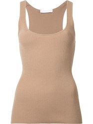 Dion Lee Pinacle Knit Tank Top Brown