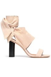 Iro Woman Ditta Bow Detailed Suede Sandals Beige