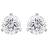 Swarovski Solitaire Round Crystal Stud Earrings Silver