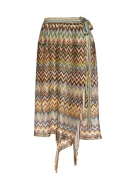 Missoni Zigzag Stripe Beach Skirt Blue Multi