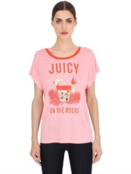Juicy Couture Printed Jersey T Shirt