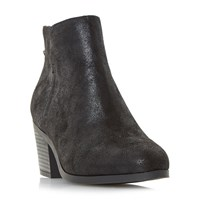 Head Over Heels Pretty Zip Back Ankle Boots Black