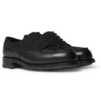 J.M. Weston Suede And Leather Derby Shoes Black