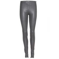 Balenciaga Leather Leggings Reglisse