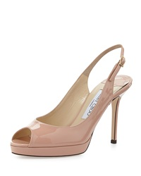 Jimmy Choo Nova Patent Leather Slingback Pump Blush