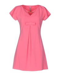 Scee By Twin Set Short Dresses Fuchsia