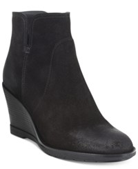 Kenneth Cole Reaction Dot Ation Wedge Ankle Booties Women's Shoes Black