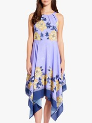 Adrianna Papell Bliss Blooms Dress Yellow Multi