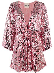 Aniye By Sequined Short Dress Pink