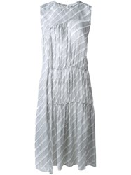 Christian Wijnants 'Derra' Stripe Dress White