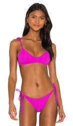 L Space Daisy Triangle Bikini Top In Fuchsia. Bright Fuchsia