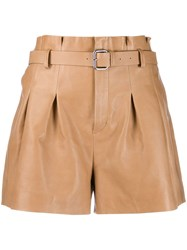 Red Valentino V High Waist Shorts Brown