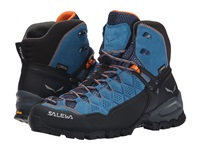 Salewa Alp Trainer Mid Gtx Washed Denim Carrot Women's Shoes Blue
