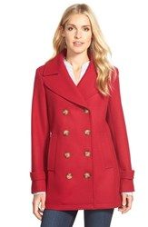 Petite Women's Kristen Blake Wool Blend Peacoat