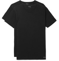Paul Smith Two Pack Slim Fit Cotton Jersey T Shirts Black