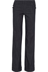 Elizabeth And James Nancy Cotton Blend Wide Leg Pants Blue