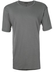 The Viridi Anne Basic Plain T Shirt Grey