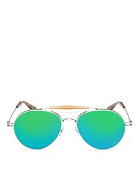 Givenchy Mirrored Aviator Sunglasses 56Mm Palladium Green Mirror