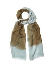 Denis Colomb Mustang Peacock Cashmere Scarf Blue