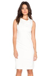 Milly Cowlneck Midi Dress White